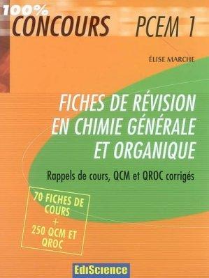 Fiches de révisions en chimie générale - Dunod - 9782100501755 -