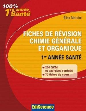 Fiches de révision chimie générale et organique - édiscience - 9782100547265 -