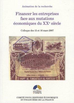 Financer les entreprises face aux mutations économiques du XXe siècle - La Documentation Française - 9782110975119 -