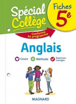 Fiches anglais 5e Spécial Collège - Magnard - 9782210758445 -