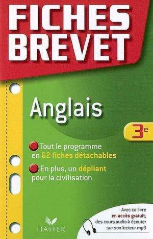 FICHES BREVET ANGLAIS  - HATIER - 9782218935343 -