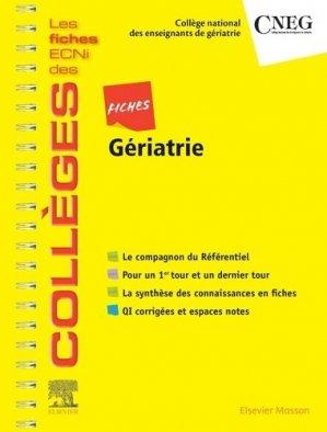 Fiches Gériatrie - elsevier / masson - 9782294760587 -