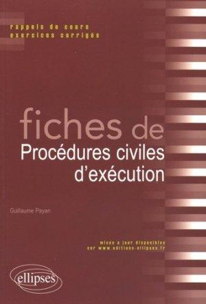 Fiches de procédures civiles d'exécution - Ellipses - 9782340010284 -