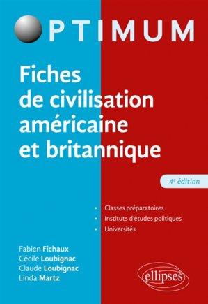 Fiches de civilisation américaine et britannique - ellipses - 9782340025943 -
