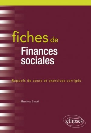 Fiches de finances sociales - Ellipses - 9782340035973 -