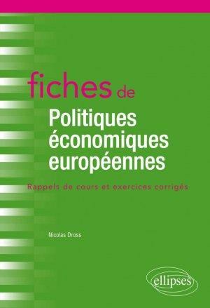 Fiches de politiques économiques européennes - Ellipses - 9782340038387 -