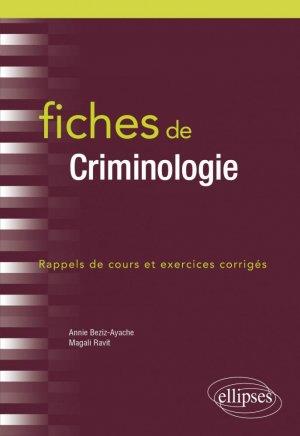 Fiches de Criminologie - Ellipses - 9782340039995 -
