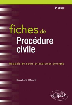 Fiches de procédure civile - 6e édition - Ellipses - 9782340040168 -