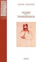 Figures de la transgression - Librairie Droz - 9782600005517 -