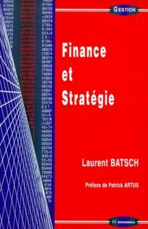 Finance et stratégie - Economica - 9782717838107 -