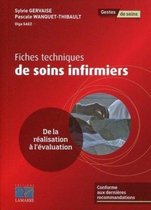 Fiches techniques de soins infirmiers - lamarre - 9782757307465 -