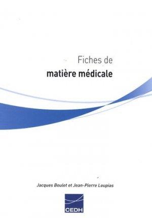 Fiches de matière médicale - cedh - 9782915668315 - livre médecine 2020, livres médicaux 2021, livres médicaux 2020, livre de médecine 2021