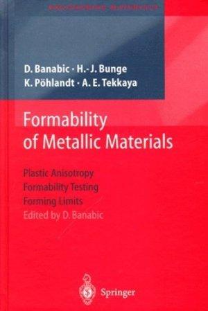 Formability of Metallic Materials. - Springer Verlag - 9773540679067 -