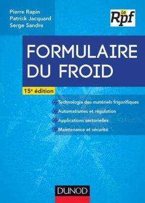 Formulaire du froid - dunod - 9782100708963 -