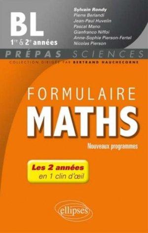 Formulaire Maths BL 1er&2e années - ellipses - 9782340000186 -