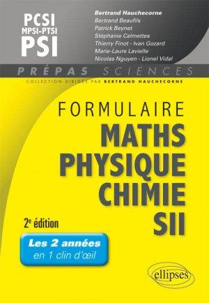 Formulaire MatHs - Physique-Chimie -SII - MPSI/MP - ellipses - 9782340006638 -