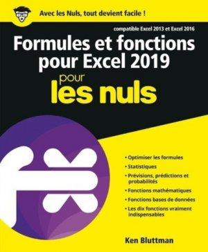 Formules et fonctions pour excel pour les nuls - First - 9782412046579 -