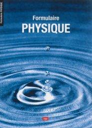 Formulaire de physique - lep - loisirs et pedagogie (suisse) - 9782606012793 -