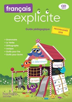 Français Explicite CE1 - Guide pédagogique + clé USB - Ed. 2019 - hachette - 9782016271926