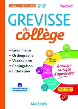 Français 6e-3e Grevisse du collège - magnard - 9782210756410 -