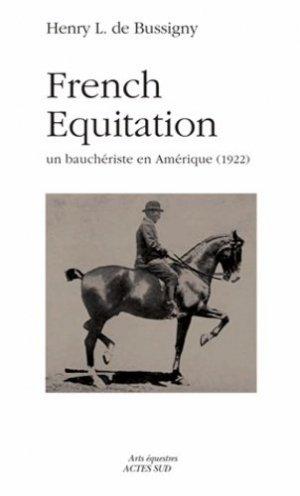 French Equitation - actes sud - 9782330023836 -