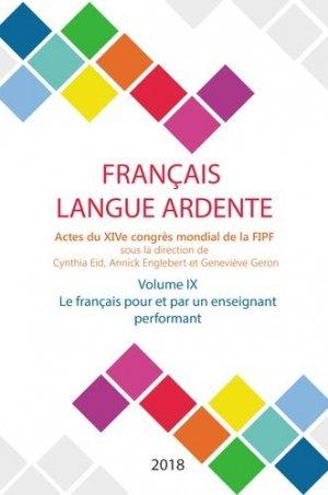 Français langue ardente - Actes du XIVe congrès mondial de la FIPF - Iggybook - 9782363157393 -