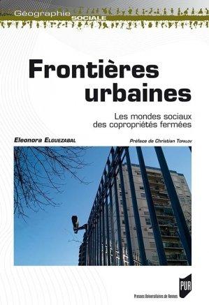 Frontières urbaines - presses universitaires de rennes - 9782753541696