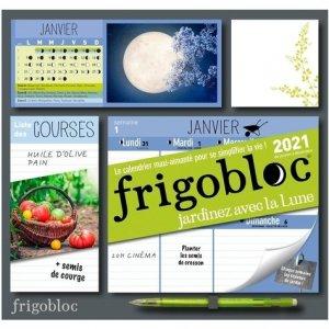 Frigobloc Jardiner avec la Lune. Calendrier d'organisation familiale, Edition 2021 - Play Bac - 9782809670646 -
