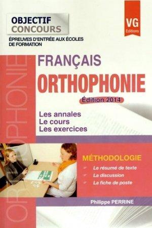 Français Orthophonie 2014 - vernazobres grego - 9782818312407 -