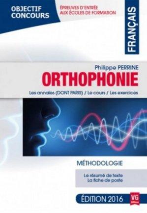 Français Orthophonie 2016 - vernazobres grego - 9782818314272