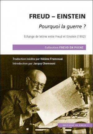 Freud - einstein, pourquoi la guerre ? - in press - 9782848354774 -