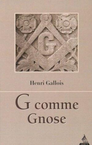 G comme Gnose - Dervy - 9791024201054 -
