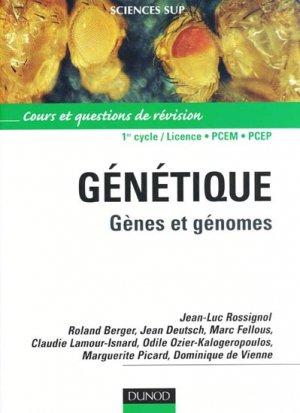 Génétique - dunod - 9782100082186 -