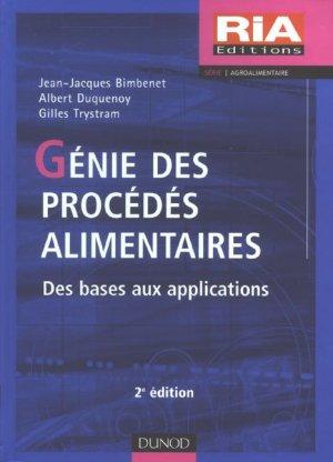 Génie des procédés alimentaires - Dunod - 9782100504701 -