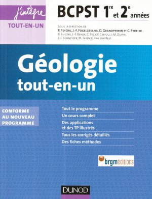 Géologie tout-en-un BCPST 1re et 2e années - dunod - 9782100726608 -