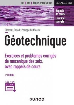 Géotechnique - dunod - 9782100798834 -