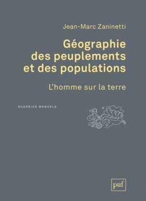 Géographie des peuplements et des populations. L'homme sur la terre - PUF - 9782130730095 -