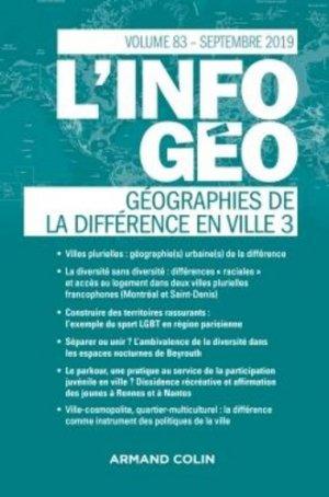 Géographies de la différence en ville - armand colin - 9782200932541 -