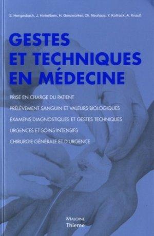 Gestes et techniques en médecine - maloine - 9782224034191 -