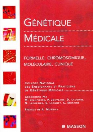 Génétique médicale-elsevier / masson-9782294008122