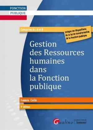 Gestion des ressources humaines dans la fonction publique - gualino - 9782297135771 -