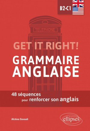 Get it right! Grammaire anglaise - Ellipses - 9782340045941 -
