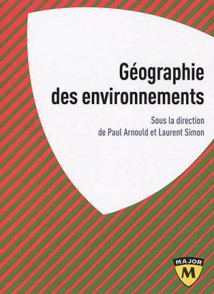 Géographie des environnements - belin - 9782410013047 -