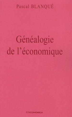 Généalogie de l'économique - Economica - 9782717855234 -