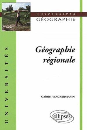 Géographie régionale - ellipses - 9782729809690 -
