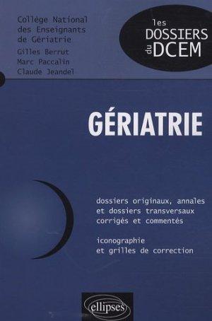 Gériatrie - ellipses - 9782729852535 -