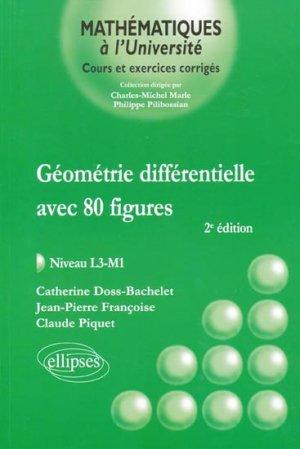 Géométrie différentielle avec 80 figures - ellipses - 9782729864460 -