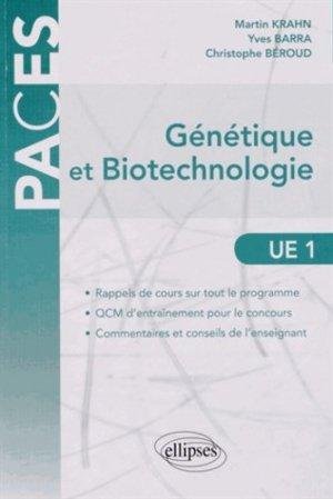 Génétique et biotechnologie UE1 - ellipses - 9782729876159 -