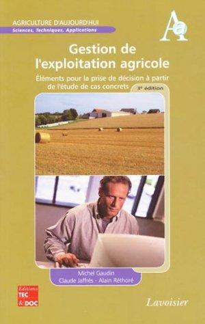 Gestion de l'exploitation agricole - lavoisier / tec et doc - 9782743013943 -