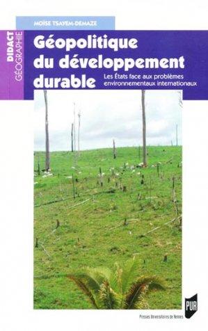 Géopolitique du développement durable - presses universitaires de rennes - 9782753514225